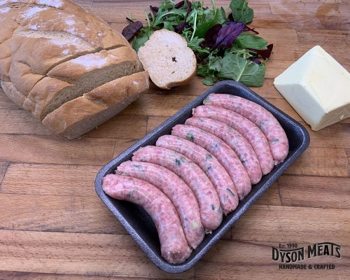 8 Pork & Leek Sausages