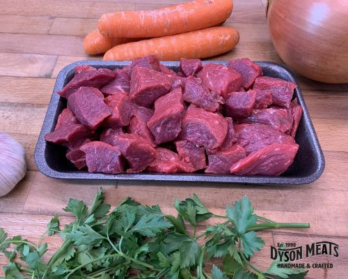 Stewing Beef (Cubed) 500g