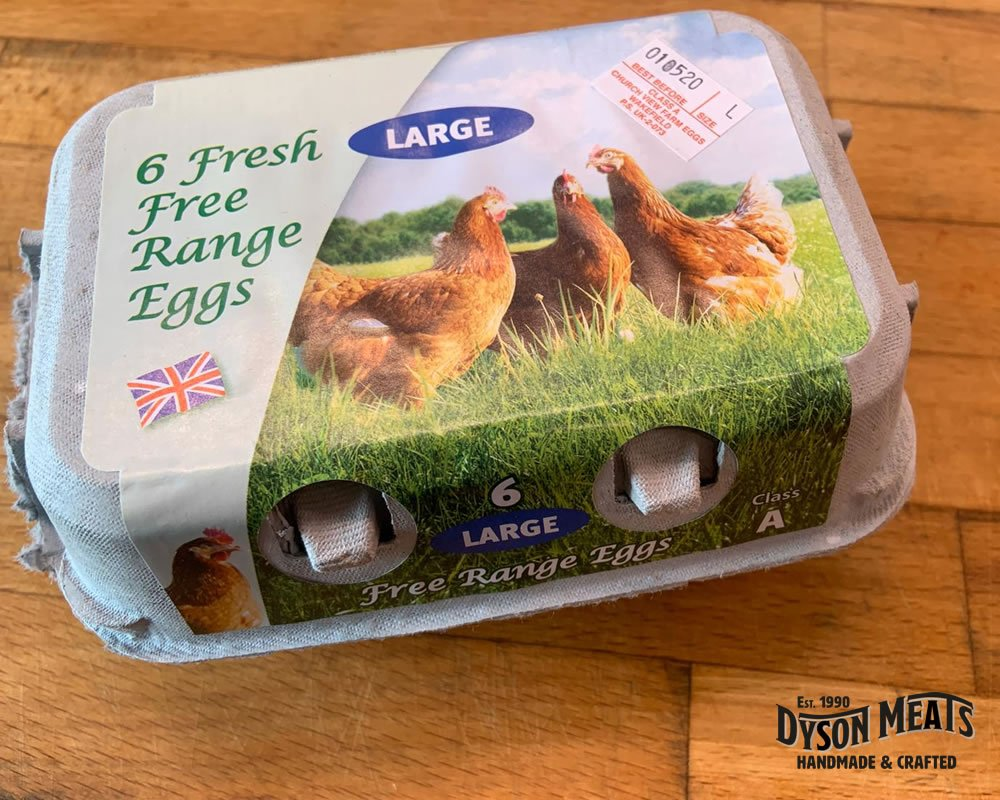 6 Large Free Range Eggs