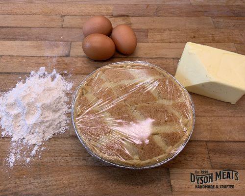Large Uniced Bakewell Tart